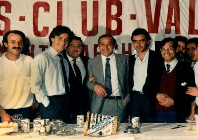 6 Aprile 1986 cena JC Montevarchi con Mauro e Manfredonia