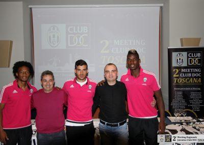 Meeting Club DOC Toscana con Pogba Cuadrado e Sturaro 7 novembre 2015