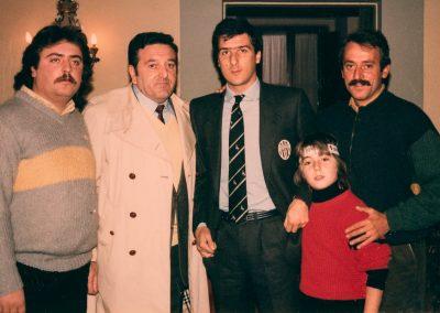 Villa la Massa ritiro Juventus Giannini e Fruchi con il grande Gaetano Scirea 27 novembre 1983