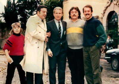 Villa la Massa ritiro Juventus Giannini e Fruchi con mister Trapattoni 27 novembre 1983